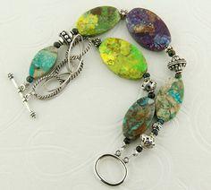 Colorful tourquoise double strand bracelet. $40.00, via Etsy.