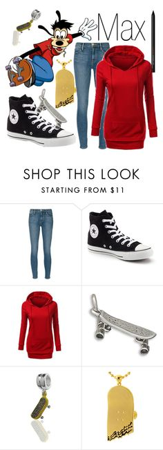 """""""Max~ DisneyBound"""" by basic-disney ❤ liked on Polyvore featuring Frame Denim, Converse, BillyTheTree, Bling Jewelry and King Ice"""