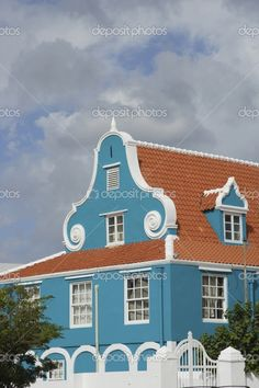 Caribbean, Netherlands Antilles, Curacao, Willemstad, Otrabanda, Dutch architecture