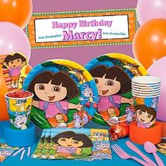 Dora Birthday Party Printables With Matching by Tinyprintables