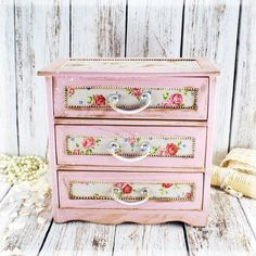 French Country Pink shabby chic vintage look by Alenahandmade