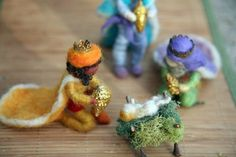 All felted nativity pieces are bendable. Cute!!