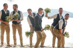 Wedding groomsmen, beach wedding groom attire, groom and groomsmen Country Wedding Groomsmen, Beach Wedding Groom Attire, Wedding Men, Wedding Suits, Chic Wedding, Wedding Beach, Beach Groom, Wedding Dresses, Wedding Country