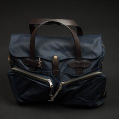 Filson Navy 24-Hour Tincloth Briefcase at The Lodge