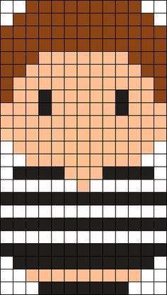 Pugsley Addams Perler Bead Pattern / Bead Sprite