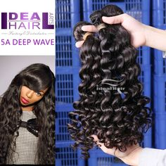 Ideal Queen hair products virgin hair brazilian loose wave,100% human hair,Grade 5A, unprocessed hair // Price: $US $85.30 & FREE Shipping //