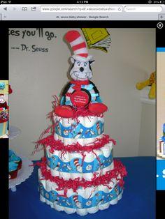 Dr. Seuss Diaper Cake/ this is cute!!