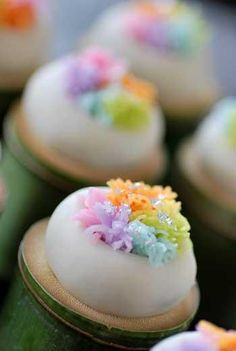 """""""Wagashi"""" - I don't even know what these are but they are just cute as buttons"""