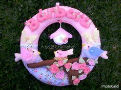 Porta Maternidade Menina no Jardim