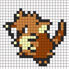 Raticate Pokemon Sprite bead pattern