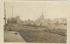 Empedrado de Calzada Independencia en Guadalajara, año 1920.