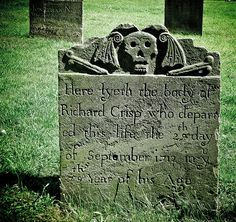 Macabre and almost humorous tombstone