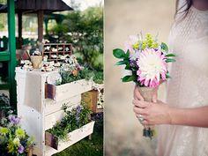 rustic country garden wedding, LOVE the dresser!