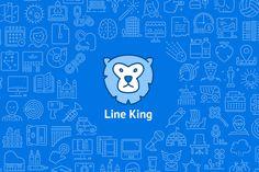 LineKing iOS Icons by Pixel Bazaar on Creative Market