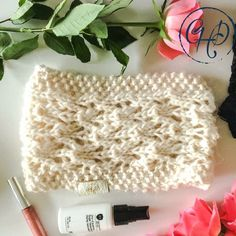 Knitted Lace Headband in Cream Lace Headbands, Alpaca Wool, Lace Knitting, Winter Collection, Autumn, Cream, Trending Outfits, Handmade Gifts, Pattern