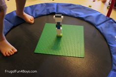 Design Lego towers that can withstand a (trampoline) earthquake!
