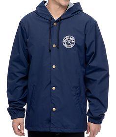 Dark Seas Navigator Navy Hooded Coaches Jacket