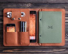 iPad and document organizer. 9.7 inch iPad Pro case. iPad leather folio brown color. Cut and pierced by hands. Moreover, it's sewn by hands but not with a machine, what makes it even more precious. Your initials or other information can be added with stamping method. SIZE: W*H 220*275 mm (8.6*10.8 in) Genuine leather, 2 mm, waxed thread, metal button. This folder will be essential during your holidays and business-trips. Besides, it is an elegant and practical present to you or your…