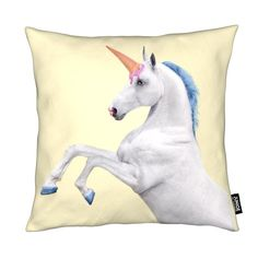 """Ice-Cream-Unicorn"" - Kissen Paul Fuentes, Ice Cream, Throw Pillows, Unicorn Pillow, Unicorns, Bunt, Birthdays, Easter, Decoration"