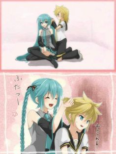 Where is Miku's hand in that first picture? O.O