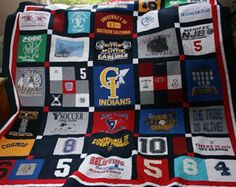 So many tshirts that you cant fit them all into one quilt? A double sided tshirt quilt allows you to keep all those memories in 1 beautiful quilt. One side for sports, the other side for traveling. Or 1 side for your college tees and the other side for your band shirts. Or maybe you just have a mixture of all kinds of shirts youve collected through the years. Let me create not 1 but TWO great quilts and put them together for you. When you purchase this deposit you will receive a form via…
