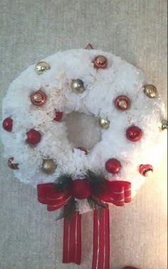 Christmas coffee filter wreath