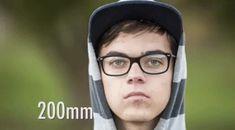 Un GIF pour comprendre l'impact de la distance focale sur un portrait.