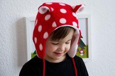 Fleece Mütze mit Ohren