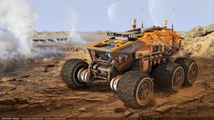 ArtStation - Exoplanet Rover, Stephane Chasseloup