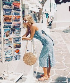 waiting for summer like Greece outfit Vacation Outfits, Summer Outfits, Cute Outfits, Casual White Summer Dresses, Europe Outfits, Moda Outfits, Italy Outfits, Amazing Outfits, Vacation Style