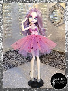 """Monster Doll """"Fierce in Floral"""" high fashion dress"""