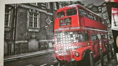 Done with another!! yayy! I should try 3000 one someday i guess.  #jigsawpuzzle #puzzle #wonderfullife #night #redandblack #1000puzzle #bus #towerhill #doublebus #goodnight #pictureoftheday #instagram #instadaily #london #londonbus by air0729