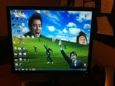 So I changed my dad's desktop background...