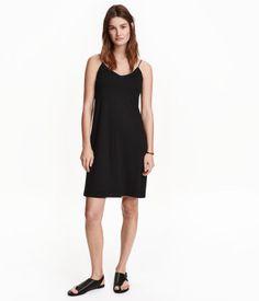 Korte tricot jurk | Zwart | Ladies | H&M NL