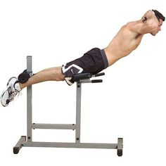 Roman chair and back hyper lets you train abs, back, glutes and hamstringsHome gym machine helps you keep your abs and lower back strong and tightPowerline fitness equipment will improve your posture and strength