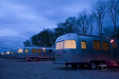 Camp Silver on the beautiful island of Texel, The Netherlands. Luxury Airstreams, available as a single or a double 'hotel' room.