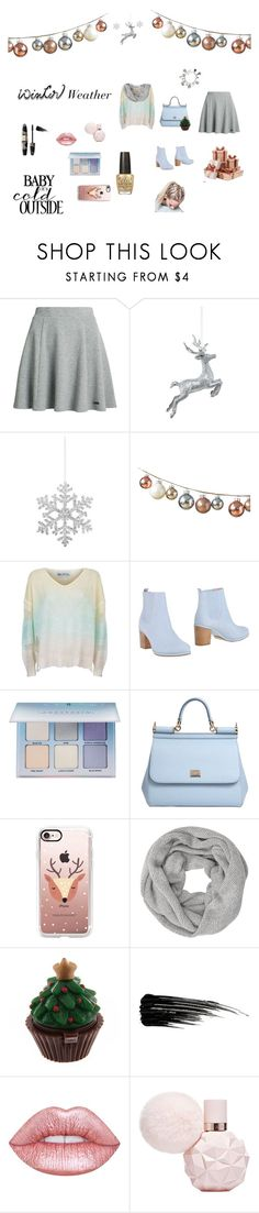 """""""Winter Weather"""" by lost-in-wonderland9008 ❤ liked on Polyvore featuring Superdry, Shishi, Wildfox, Opening Ceremony, Anastasia Beverly Hills, Dolce&Gabbana, Casetify, John Lewis, Urban Decay and Max Factor"""