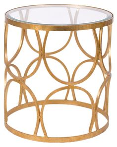 One Kings Lane - Life's a Party - Grace Table, Gold