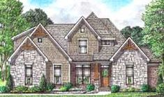 MonsterHousePlans - 27-258 Bungalow Style House, House Plans 3 Bedroom, Monster House Plans, House Plans And More, Country Style House Plans, Traditional House Plans, Open Layout, Roof Design, Story House
