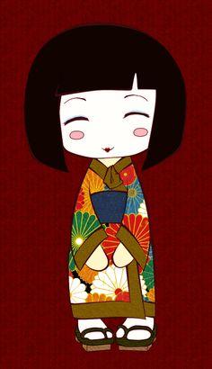 Kokeshi Doll by coloradogirl86.deviantart.com