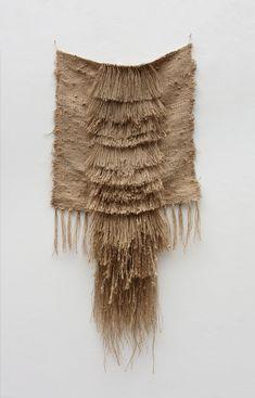 Kimberly Corday Pelage Wall Hanging on Garmentory Weaving Loom Diy, Weaving Art, Tapestry Weaving, Hand Weaving, Textile Fiber Art, Weaving Textiles, Jute Twine, Woven Wall Hanging, Fabric Manipulation
