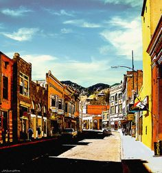 Bisbee Arizona Painting by Nadine and Bob Johnston