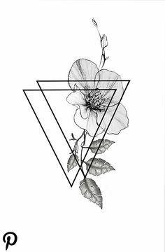 Pin on Flower Tattoo Designs Neue Tattoos, Body Art Tattoos, Girl Tattoos, Small Tattoos, Tatoos, Angel Tattoo Designs, Flower Tattoo Designs, Flower Tattoos, Geometric Tattoo Drawings