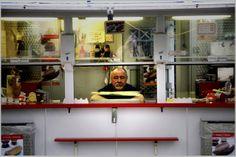 Danish hot dog seller polsevogn street food