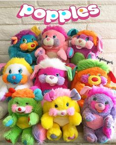 toys eightiesgirls on The 9 original popples r - Vintage Toys 80s, Retro Toys, 1980s Childhood, Childhood Memories, Fraggle Rock, 1980s Toys, 80s Kids, Toy Collector, Classic Toys