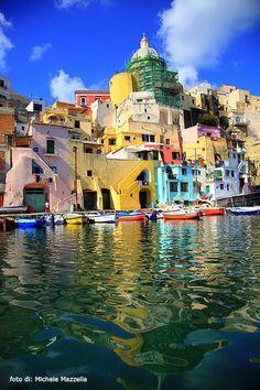Procida, Italy...Marina di Corricella Naples Campania
