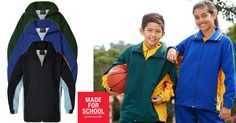 When you're walking to school and the sky looks gloomy wear our water repellant Foley jacket will have you ready for any kind of weather.