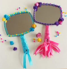 Princess Party Craft:  A possible way to let kids look at their painted faces?
