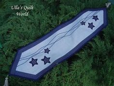 Ulla's Quilt World: Star table runner quilt