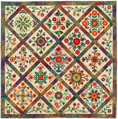 The Rose of Sharon Quilt. Sharon Pederson and friends.